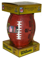 Super Bowl L (Fifty 50) Denver Broncos vs. Carolina Panthers Official  Leather Authentic cf8b3abb7