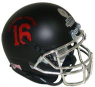 Alabama Crimson Tide Alternate BLACK SPECIAL 2015 FBS National Champions Schutt Mini Authentic Helmet