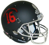 Alabama Crimson Tide Alternate BLACK 2015 FBS National Champions Schutt #16 Full Size Replica Helmet