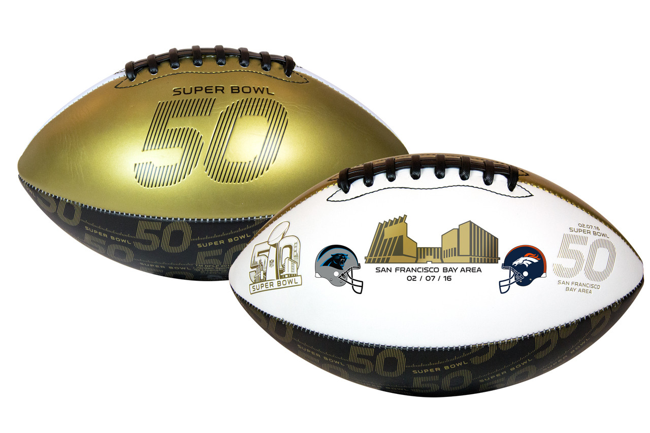 Super Bowl 50 Official Size Dueling Football - Carolina Panthers vs. Denver  Broncos by Rawlings. Rawlings · Image 1 7e7469efd