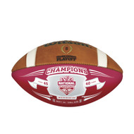 Alabama Crimson Tide 2015 FBS National Champions Limited Edition White Panel Full-Size Football by Wilson