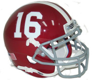 Alabama Crimson Tide #16 Schutt Mini Authentic Football Helmet