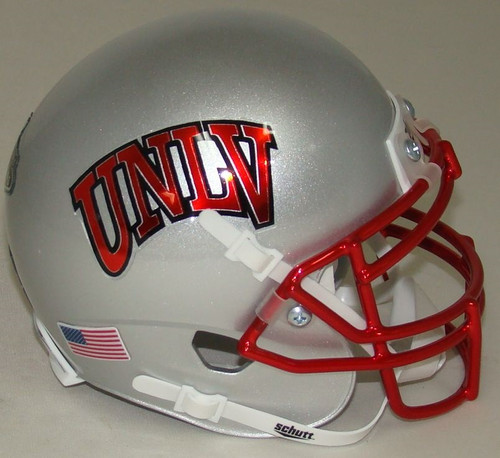 UNLV Runnin Rebels Alternate Silver Schutt Mini Authentic Football Helmet