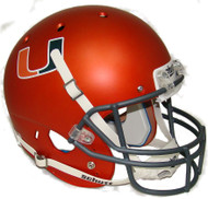 Miami Hurricanes Alternate Orange Schutt Full Size Replica Helmet
