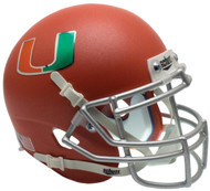 Miami Hurricanes Orange Schutt Mini Authentic Helmet