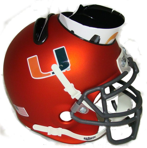 Miami Hurricanes Alternate Orange Mini Helmet Desk Caddy by Schutt