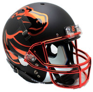 Boise State Broncos Alternate Halloween Chrome Schutt Mini Authentic Football Helmet
