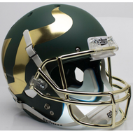 South Florida Bulls Alternate Green with Chrome Mask Schutt Full Size Replica Helmet