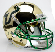 South Florida Bulls Alternate Gold Chrome Schutt Full Size Replica XP Football Helmet