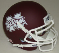 Mississippi State Bulldogs Alternate Matte with White Mask Schutt Mini Authentic Football Helmet