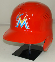 Miami Marlins Orange Rawlings Coolflo LEC Full Size Baseball Batting Helmet