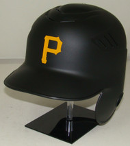 Pittsburgh Pirates Matte Black Rawlings Coolflo LEC Full Size Baseball Batting Helmet