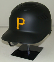Pittsburgh Pirates Matte Black Rawlings Coolflo REC Full Size Baseball Batting Helmet