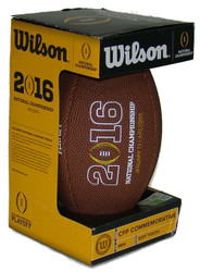 NCAA 2016 CFP National Championship Soft Touch Mini Football by Wilson (Boxed)