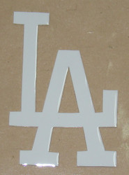 LOS ANGELES DODGERS ALL WHITE FULL SIZE HELMET 3M STICKER DECAL