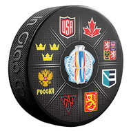 2016 World Cup of Hockey All Teams Logos Souvenir Hockey Puck