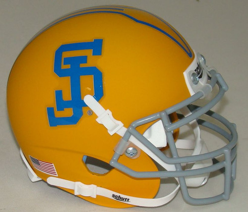 San Jose State Spartans Alternate Gold Schutt Mini Authentic Football Helmet