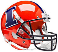 Illinois Fighting Illini Schutt Orange with I Full Size Replica Helmet