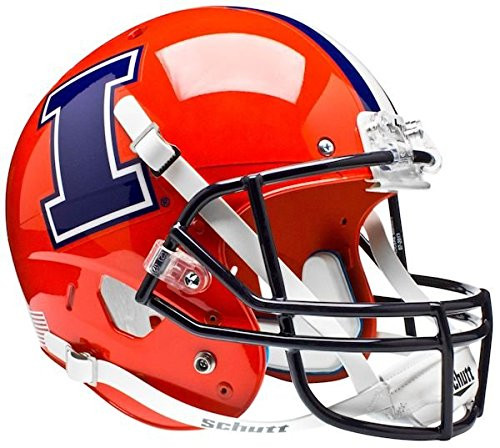 Illinois Fighting Illini Orange with I Schutt Full Size Replica XO Football Helmet