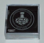 2016 NHL Stanley Cup Finals Playoff Sherwood Official Game Puck - Game 3 (Three)
