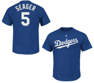 Corey Seager Los Angeles Dodgers Majestic Official Name and Number MEN'S T-Shirt - Royal