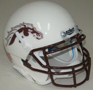 Western Michigan Broncos Alternate White Schutt Mini Authentic Helmet