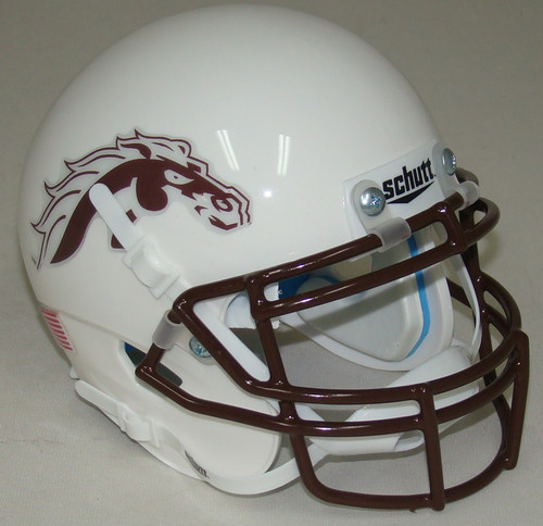 Western Michigan Broncos Alternate White Schutt Mini Authentic Football Helmet
