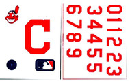 Cleveland Indians Batting Helmet Rawlings Decal Kit