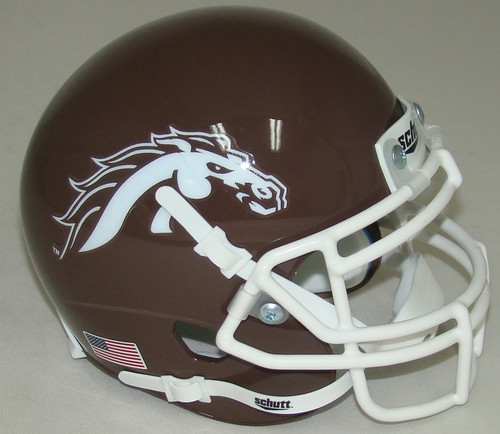 Western Michigan Broncos Alternate Brown Schutt Mini Authentic Football Helmet