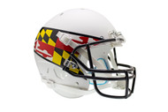 Maryland Terrapins Schutt XP Full Size Replica Helmet - White with Flag