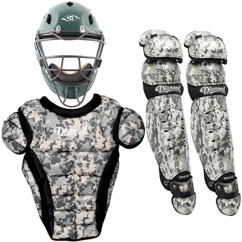 Diamond iX5 Camouflage Youth Baseball Catcher's Gear Package