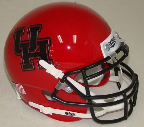 Houston Cougars Alternate Red Black Schutt Mini Authentic Football Helmet
