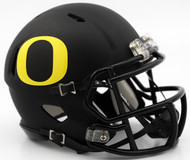 Oregon Ducks Matte Black NCAA Riddell Speed Mini Helmet