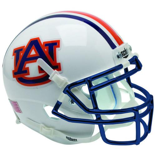 Auburn Tigers Chrome Mask Schutt Full Size Replica XP Football Helmet