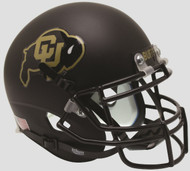 COLORADO BUFFALOES (Matte Black with Gold) Schutt XP Mini Helmet