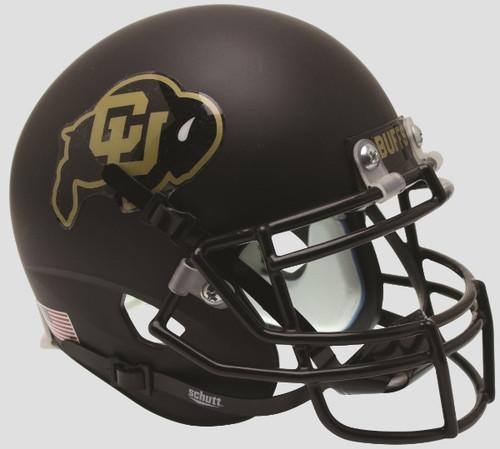 COLORADO BUFFALOES (Matte Black with Gold) Schutt XP Mini Football Helmet