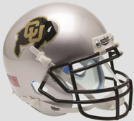 Colorado Buffaloes Alternate Silver Schutt Mini Authentic Helmet