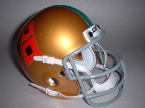 Miami Hurricanes 1967 Schutt Throwback Mini Authentic Football Helmet