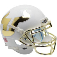 South Florida Bulls Alternate White and Gold Chrome Schutt Mini Authentic Football Helmet