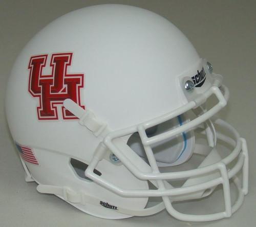 Houston Cougars Alternate White Schutt Mini Authentic Football Helmet
