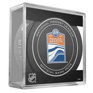 Edmonton Oilers Sher-Wood 2016-17 Inaugural Season Official Game Puck in Cube