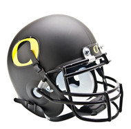 Oregon Ducks Schutt Mini Authentic Helmet - FLAT BLACK