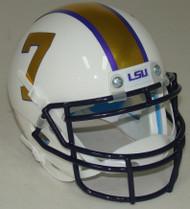 LSU Tigers Alternate Gridiron Gold Schutt Mini Authentic Football Helmet