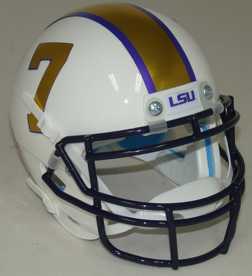 LSU Tigers Alternate Gridiron Gold Schutt Mini Authentic Football Helmet