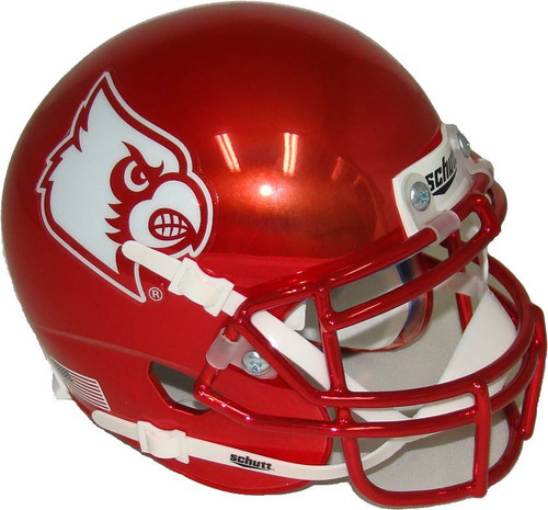 Louisville Cardinals Authentic Mini Football Helmet Red Chrome