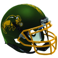 North Dakota State Bison Matte Green Schutt Mini Authentic Helmet