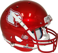 Louisville Cardinals Red Chrome NCAA Football Schutt Full-Size Replica XP Football Helmet