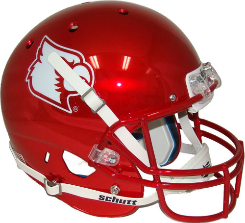 Louisville Cardinals Red Chrome NCAA Football Schutt Full-Size Replica XP Football Helmet
