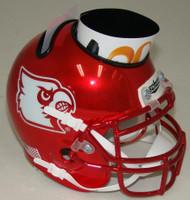 Louisville Cardinals Alternate Red Chrome Mini Helmet Desk Caddy by Schutt