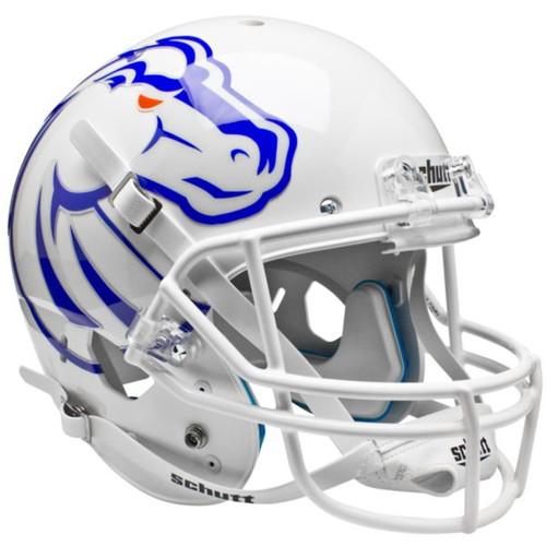 Boise State Broncos New 2011 Logo Schutt White Full Size Replica XP Football Helmet